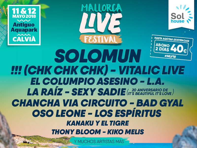 First names announced for Mallorca Live Festival 2018