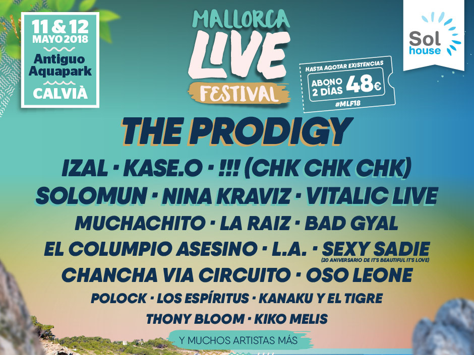 The Prodigy is our first headliner